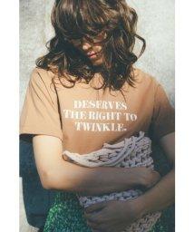 Mila Owen/スリーブデザイン3段ロゴTシャツ/501504205