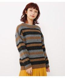 Avan Lily/起毛ランダムボーダーニットTOPS/501504100