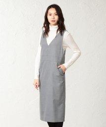 TRANSWORK/【ウォッシャブル】TRツイルジャンパースカート/501504330