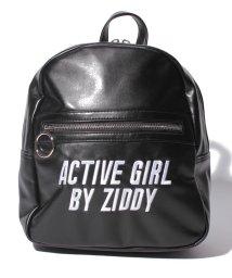 ZIDDY/合皮リングスライダーリュック/501228426