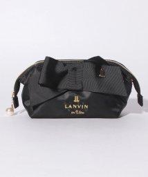 LANVIN en Bleu/ロゴ刺繍ポーチ/501457469