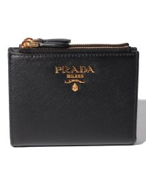 PRADA/【PRADA】2つ折り財布/SAFFIANO METAL ORO【NERO】/501487655