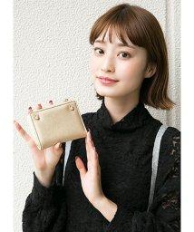 HAPPY EXP/猫スタッズ二つ折り財布/501505116