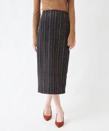 titivate/ストライプコーデュロイタイトスカート/501506425
