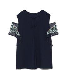 FURFUR/袖刺繍2WAYブラウス/501506717