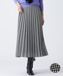 NIJYUSANKU/ウーステッド プリーツ スカート/501507003