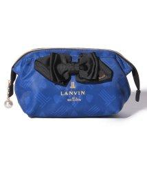 LANVIN en Bleu/リボンモチーフ総柄ポーチ/501457470