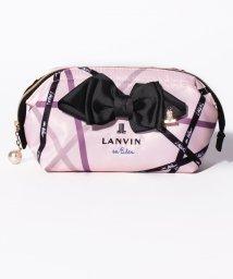 LANVIN en Bleu/総柄刺繍ポーチ/501457472