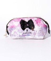 LANVIN en Bleu/花柄ロゴ刺繍ポーチ/501457473