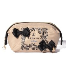 LANVIN en Bleu/リボン付ロゴ刺繍ポーチ/501457474