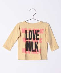 COMECHATTO&CLOSET/【DENIM DUNGAREE】テンジク LOVE MILK BABY TEE/501485566
