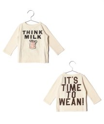 COMECHATTO&CLOSET/【DENIM DUNGAREE】テンジク THINK MILK BABY TEE/501485585