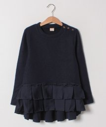petit main/プリーツ裾フリル起毛チュニック/501492741