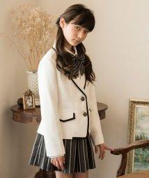 Catherine Cottage/白パイピングジャケット×ストライプスカートスーツセット/501492963