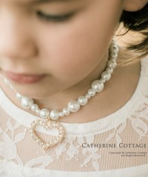 Catherine Cottage/ハートチャーム 一連パール ネックレス/501493544