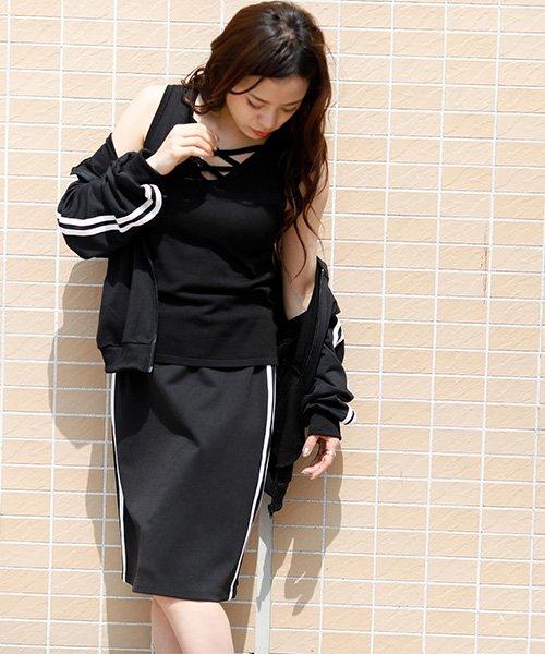 Girly Doll(ガーリードール)/【Girly Doll 】ラインスカート/mailSS1836789