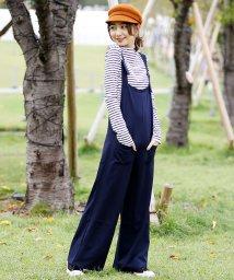 Girly Doll/穿きやすく可愛いカタチのワイドリラックスオールインワン/501502263