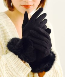 VitaFelice/ラビットファー付き手袋(スマホ対応)/501506574