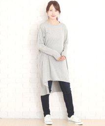Amulet/サイドスリットワンピース 韓国 ファッション レディース かわいい ゆったり シンプル 上品【A/W】【vl-5304】/501507355