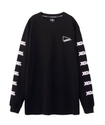 X-girl/エックスガール/レディス/L/S TEE OBLIQUE LOGO/501507444