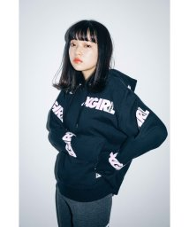 X-girl/エックスガール/レディス/PULLOVER SWEAT HOOD OBLIQUE LOGO/501507446