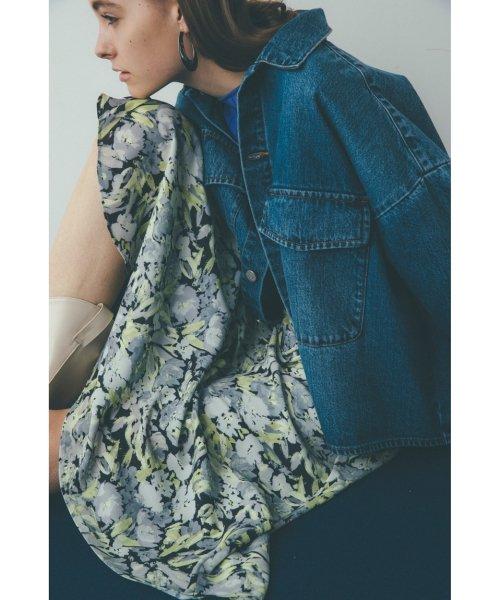 Mila Owen(ミラオーウェン)/アシンメトリーヘムジョーゼット柄スカート/09WFS191071