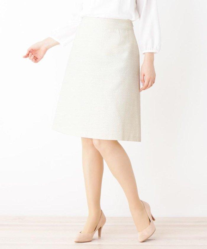 【42(LL)WEB限定サイズ】ツィード フレアスカート