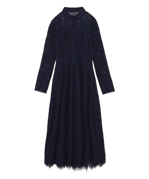 CELFORD(セルフォード)/衿付きレースロングワンピース/CWFO191052