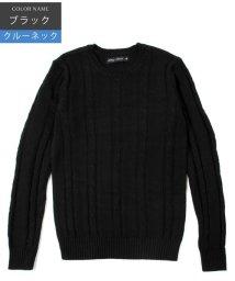 THE CASUAL/(バイヤーズセレクト) Buyer's Select コットンケーブル長袖Cネック/Vネックニット/500702423