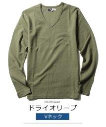 THE CASUAL/(スプ) SPU スパンフライスV/Uネック長袖カットソー/501254003