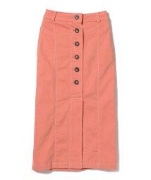 Ray BEAMS/Ray BEAMS / フロントボタン カラーステッチ スカート/501463357