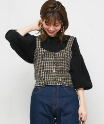 NICE CLAUP OUTLET/【セットアップ対応商品】【natural couture】ツイードキャミビスチェ/501487324
