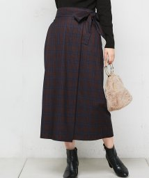 NICE CLAUP OUTLET/【natural couture】ラップ風ナロースカート/501487325