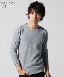 THE CASUAL/(スプ) SPU ワッフルクルーネック長袖カットソー/501501867