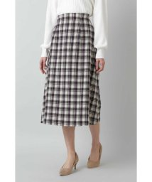 NATURAL BEAUTY BASIC/チェックAラインスカート/501507104