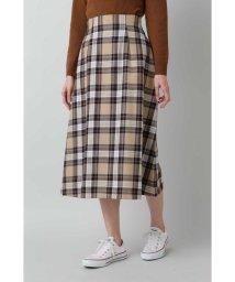 NATURAL BEAUTY BASIC/チェックAラインスカート/501507105