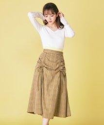 MIIA/ドロストチェック柄スカート/501508443