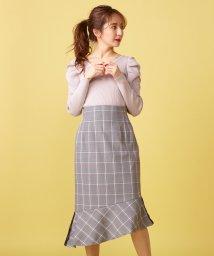 MIIA/チェック柄ペプラムスカート/501508450