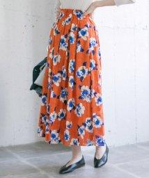URBAN RESEARCH/カットジャガードフラワープリントスカート/501511659