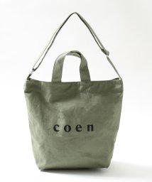 coen/【新色追加/シルバー⇒WEB限定色】coen2WAYロゴトートバッグ/500077526