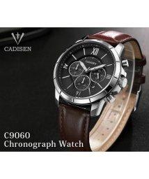 SELECT/〈CADISEN/カディセン〉C9060 クロノグラフ レザーベルト 腕時計/501487723
