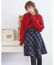 INGNI/チェック柄フレアミニ/スカート/501504767