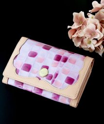Clelia-u-/財布 レディース 折り財布 本革 二つ折り ステンドグラス調 エナメル フラップ ショートウォレット 日本製 Clelia-u-/501510870