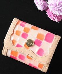 Clelia-u-/財布 レディース 二つ折り 本革 折り財布 ステンドグラス調 エナメル ミニ財布 コンパクトウォレット 日本製 Clelia-u-/501510875