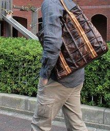 EL-DIABLO/トートバッグ メンズ パイソンハンドルデザイン 鞄 パッチワーク/501510876