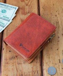 VACUA/財布 二つ折り メンズ 二つ折り財布 本革 牛革 L字ファスナー 大容量 VACUA/501510911