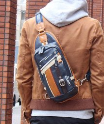 ZARIO/ボディバッグ メンズ 肩掛け フェイクレザー 縦型 ボディーバッグ 斜めがけ バッグ/501510916
