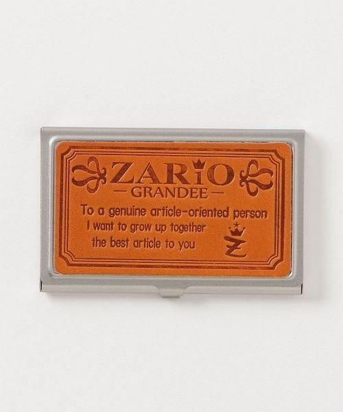 カッズ 名刺入れ レディース ステンレス 本革 カードケース 栃木レザー 日本製 ZARIO−GRANDEE− ユニセックス キャメル系1 F 【KAZZU】