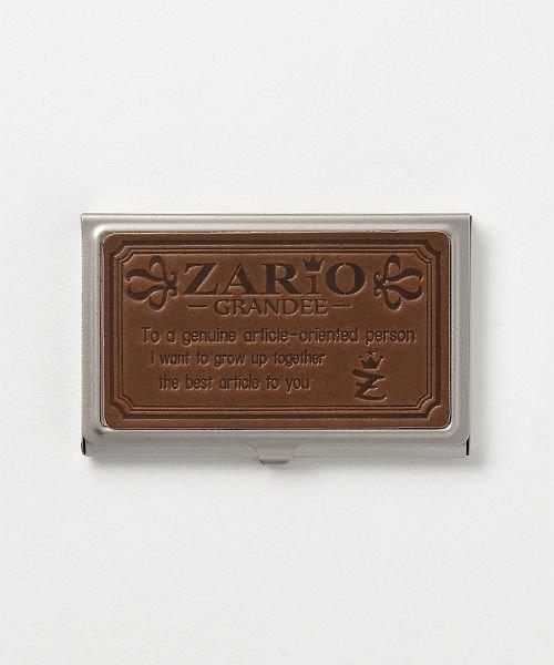 カッズ 名刺入れ レディース ステンレス 本革 カードケース 栃木レザー 日本製 ZARIO−GRANDEE− ユニセックス ブラウン系1 F 【KAZZU】
