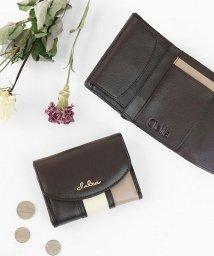 Clelia/小さい財布 レディース 三つ折り 極小財布 ストライプ フラップ 財布 コンパクトウォレット/501510983